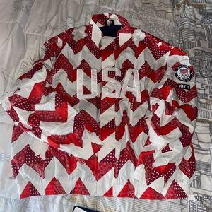 Kith for Team USA Zig Zag Quilt Track Jacket